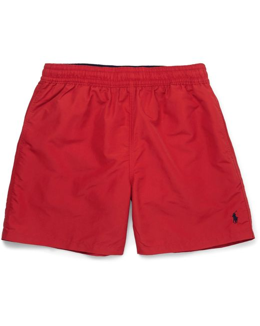 Polo Ralph Lauren - Red Traveler Mid-length Swim Shorts for Men - Lyst