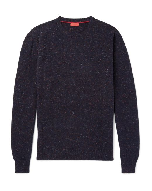 Isaia - Blue Donegal Mélange Cashmere Sweater for Men - Lyst