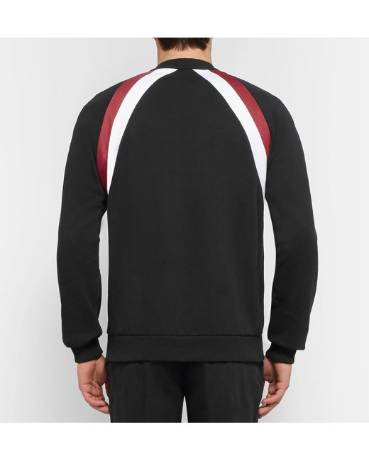Fit Jacket Jersey Bomber Fleece For Givenchy Striped Cotton Slim Back Black ZWEnPca