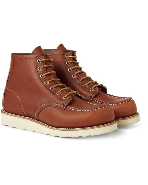 Red Wing - Brown 875 Moc Leather Boots for Men - Lyst