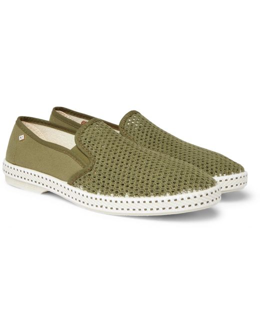 aecc52b63 Rivieras Canvas And Cotton-mesh Espadrilles in Green for Men - Save ...