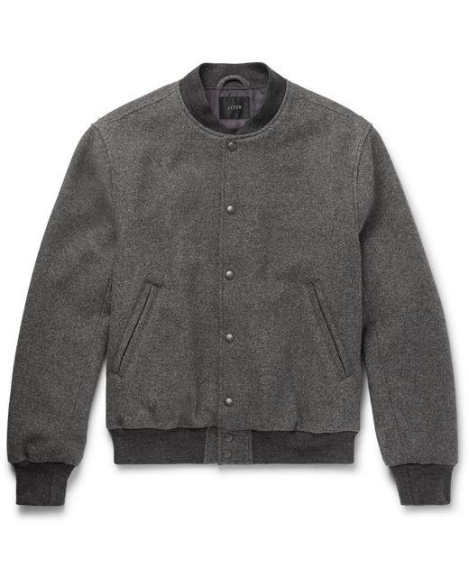 J.Crew - Gray Stadium Wool-blend Bomber Jacket for Men - Lyst
