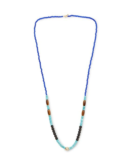 Luis Morais | Metallic Bead, Gold-tone And Multi-stone Necklace for Men | Lyst