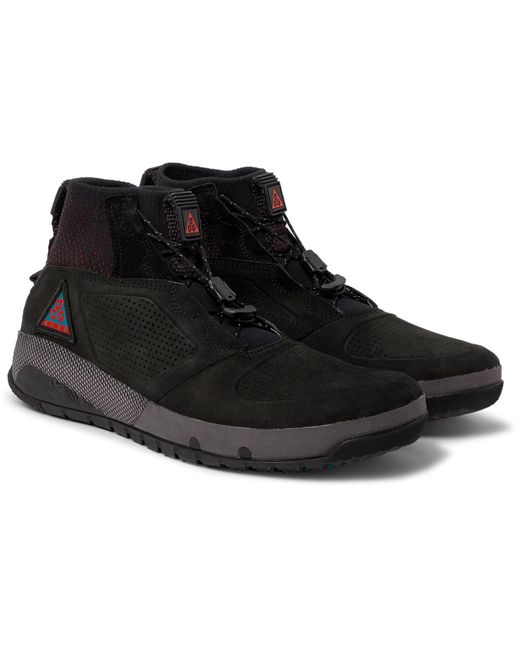 Lyst Nike Acg Ruckel Ridge Perforated Suede And Flyknit