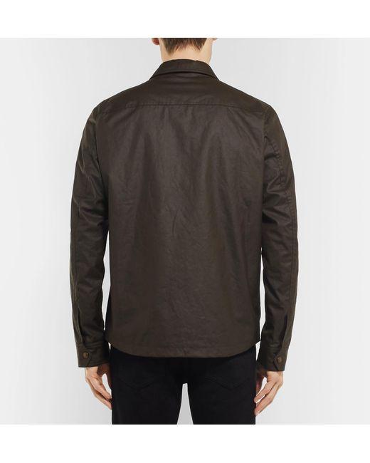 For In Brown Lyst Belstaff Jacket Dunstall Men Cotton Waxed n7xBRq