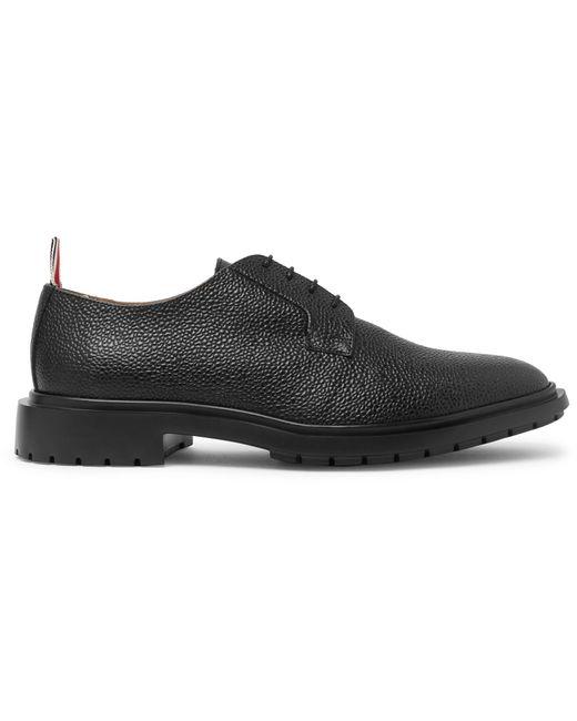 8c1131a7ffe4 ... Thom Browne - Black Pebble-grain Derby Shoes for Men - Lyst ...