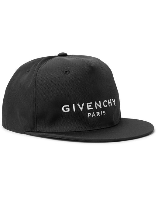 Givenchy - Black Logo-embroidered Canvas Baseball Cap for Men - Lyst