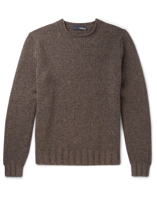 Lardini - Brown Mélange Yak And Wool-blend Sweater for Men - Lyst