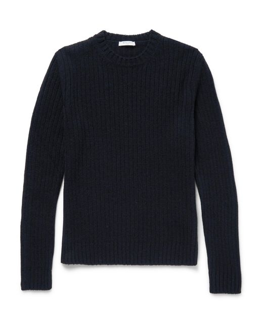 Boglioli | Blue Ribbed Wool And Cashmere-blend Sweater for Men | Lyst