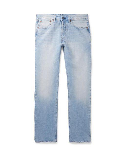 5a2a5836644 Levi's - Blue 501 Slim-fit Stretch-denim Jeans for Men - Lyst ...