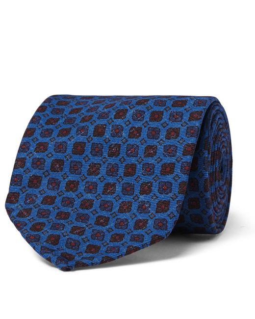 Rubinacci   Blue 8.5cm Printed Silk-faille Tie for Men   Lyst