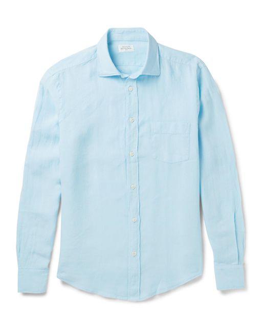 Hartford - Blue Linen Shirt for Men - Lyst