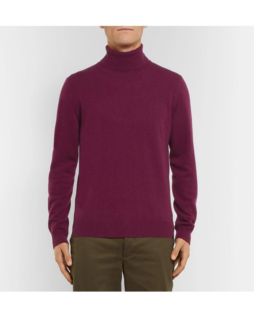 Rollneck Purple Altea Lyst Sweater Cashmere Men For In qwp0pInr5