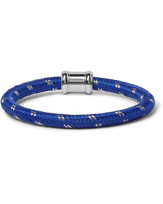 Miansai - Blue Single Casing Cord Stainless Steel Bracelet for Men - Lyst