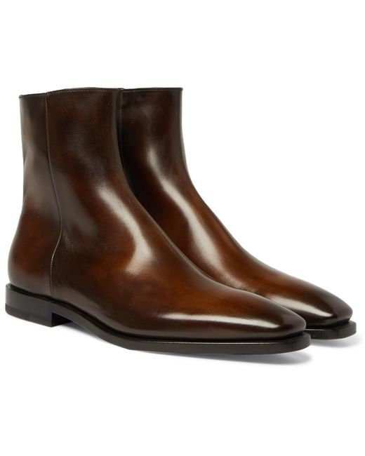 Berluti - Brown Leather Chelsea Boots for Men - Lyst