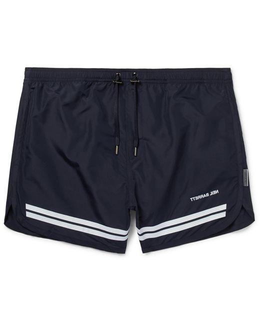 Neil Barrett - Blue Short-length Striped Swim Shorts for Men - Lyst