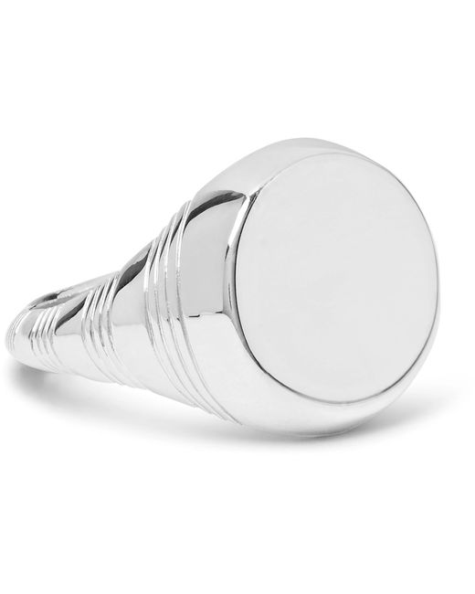 A.P.C. - Metallic Silver-tone Signet Ring for Men - Lyst
