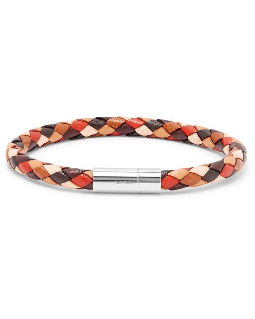Paul Smith   Brown Woven Leather Bracelet for Men   Lyst