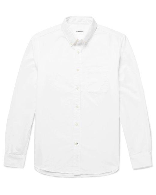 Club Monaco - White Button-down Collar Cotton Oxford Shirt for Men - Lyst