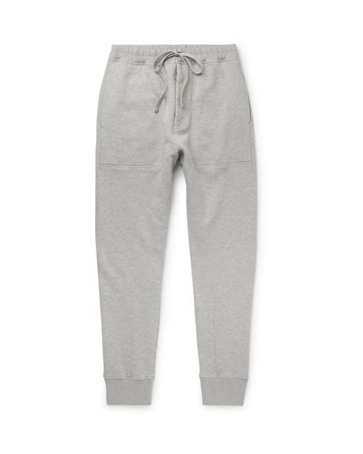 d74a72f198e05 Tom Ford - Gray Slim-fit Tapered Loopback Cotton-jersey Sweatpants for Men -