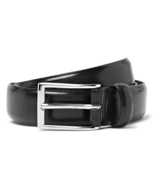 J.Crew | 3cm Black Glossed-leather Belt for Men | Lyst
