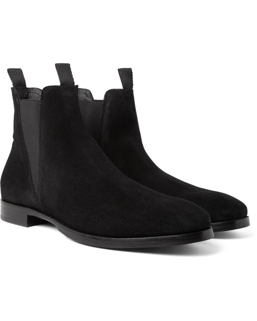 Acne | Black Zack Suede Chelsea Boots for Men | Lyst