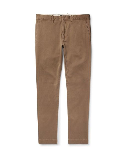 J.Crew - Brown 484 Slim-fit Stretch-cotton Twill Chinos for Men - Lyst