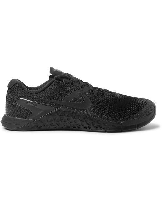 Nike - Black Metcon 4 Rubber-trimmed Mesh Sneakers for Men - Lyst