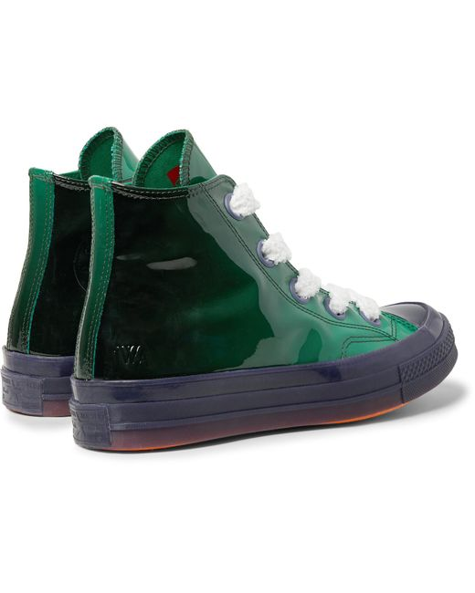 9dfa7203b2f ... Converse - Green Jw Anderson 1970s Chuck Taylor All Star Dégradé  Patent-leather High- ...