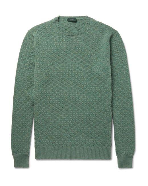 Incotex | Green Textured-knit Virgin Wool Sweater for Men | Lyst