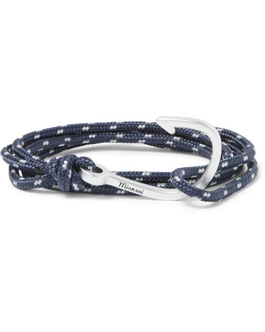 Miansai | Blue Hook Cord Silver-plated Wrap Bracelet for Men | Lyst