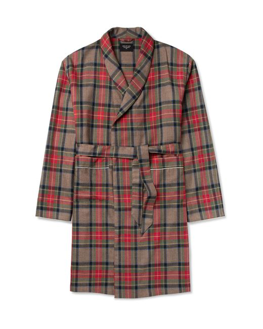 Fear Of God   Red Contrast-tipped Checked Wool Coat for Men   Lyst
