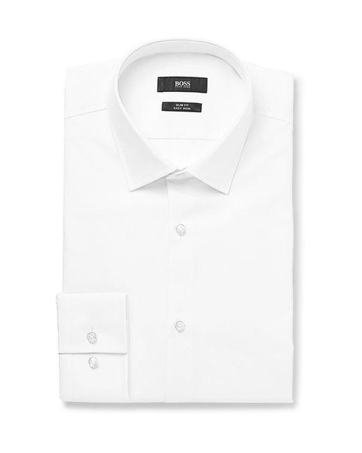 BOSS - White Jenno Slim-fit Cotton Shirt for Men - Lyst