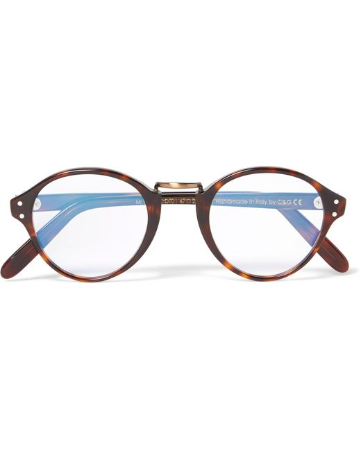 Cutler & Gross | Brown Round-frame Acetate And Burnished Gold-tone Optical Glasses for Men | Lyst