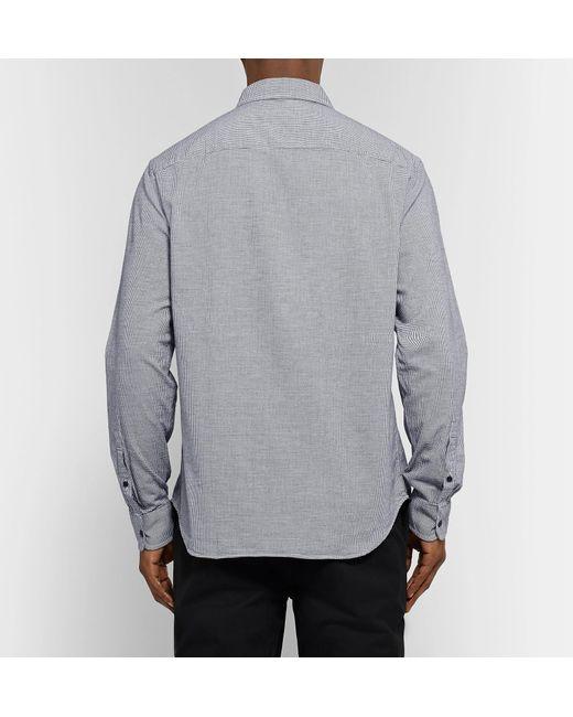 7bbc259d152 ... Club Monaco - Gray Button-down Collar Puppytooth Cotton-flannel Shirt  for Men ...