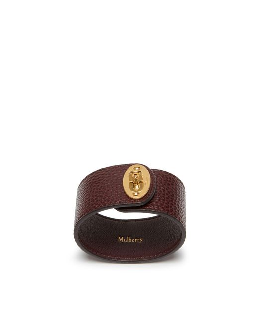 Mulberry - Multicolor Large Bayswater Bracelet In Oxblood Natural Grain Leather - Lyst