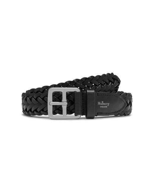 Mulberry - Black 30mm Boho Buckle Braided Belt for Men - Lyst