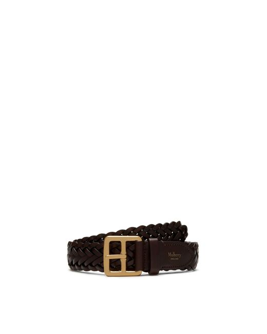 Mulberry - Brown 30mm Boho Buckle Braided Belt In Chocolate Natural Leather for Men - Lyst