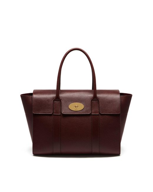 Mulberry - Red Bayswater Leather Bag - Lyst