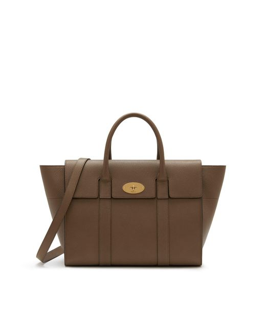 Mulberry - Brown Bayswater With Strap In Clay Small Classic Grain - Lyst