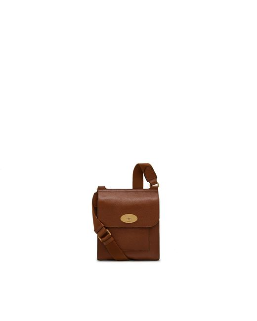 Mulberry - Brown Small Antony In Oak Natural Grain Leather for Men - Lyst