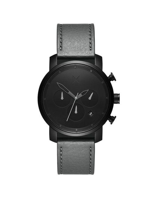 MVMT - Chrono 40mm Black Sage Leather for Men - Lyst