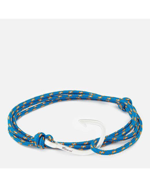 Miansai   Blue Rope Bracelet With Silver Hook for Men   Lyst