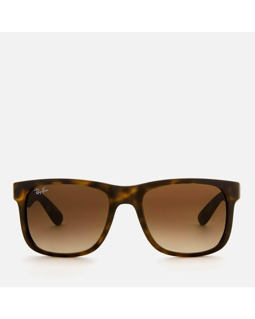 c4cf834399 Ray-Ban - Brown Justin Square Frame Sunglasses for Men - Lyst ...