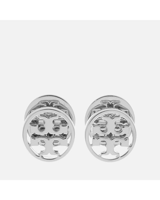 Tory Burch - Multicolor Logo Circle Stud Earrings - Lyst