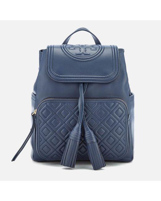 f67745bd7be8 Tory Burch - Blue Fleming Backpack - Lyst ...
