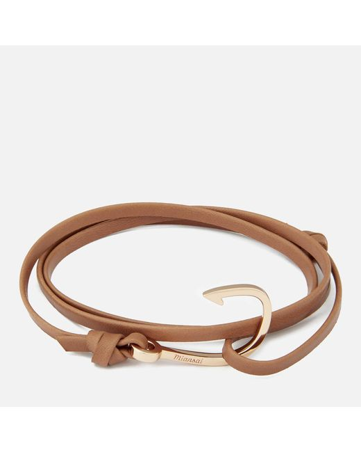 Miansai - Multicolor Men's Leather Bracelet With Rose Hook - Lyst