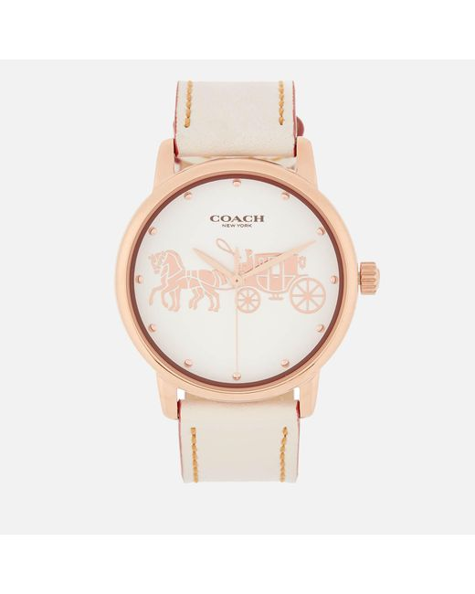COACH - Metallic Grand Large Face Watch - Lyst