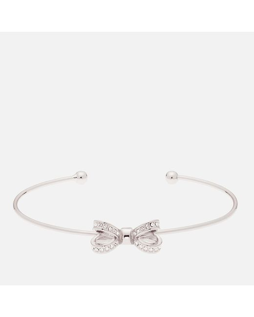 Ted Baker - Multicolor Olexii: Mini Opulent Pavé Bow Ultra Fine Cuff - Lyst