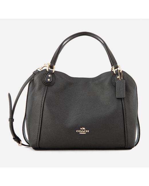 COACH - Black Edie 28 Shoulder Bag - Lyst